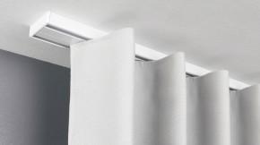 Flache einläufige Gardinenschiene ( Schleuderschiene ) - Modell 880